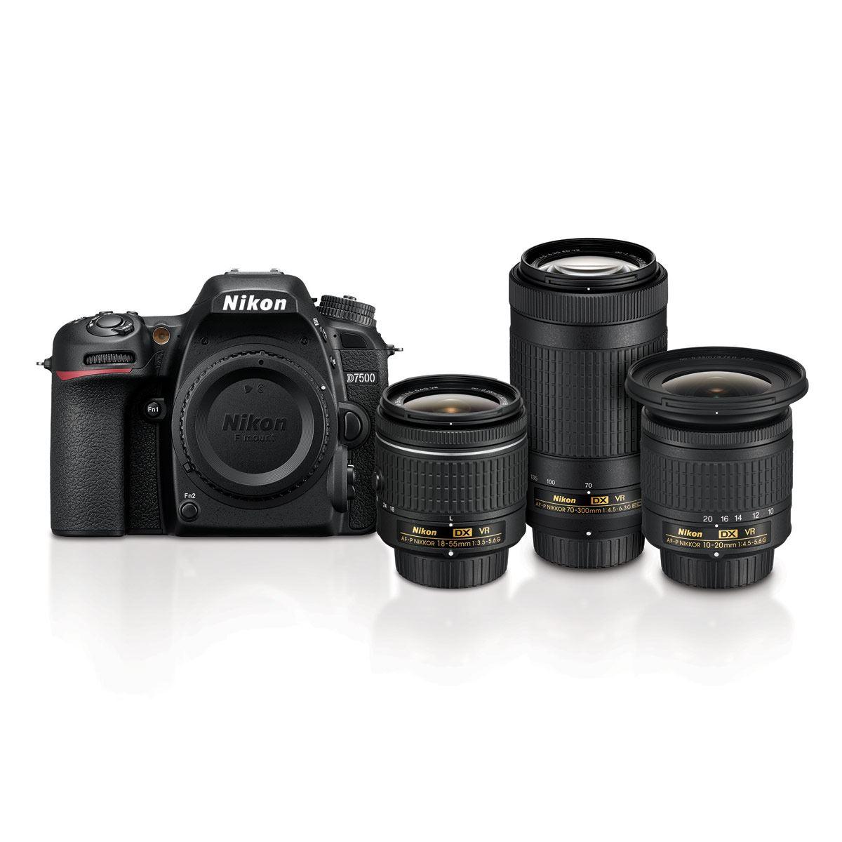 Cámara D7500 c/3 Lentes Nikon