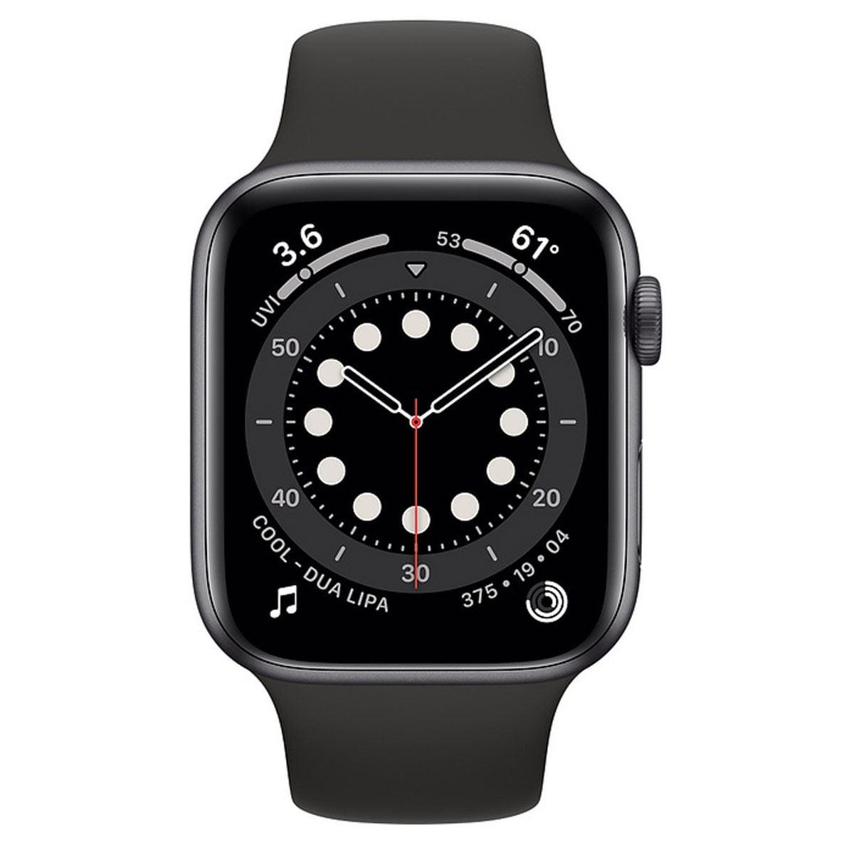 Apple Watch S6 GPS Gris 44mm con Correa Negra