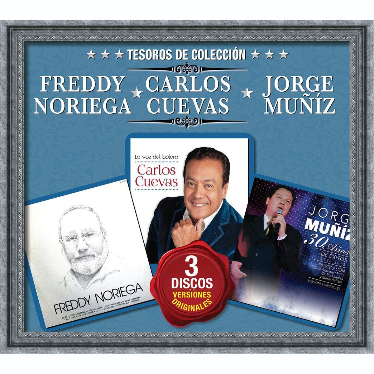 CD3 Tesoros de Colección Freddy Noriega, Carlos Cuevas y Jorge Muníz