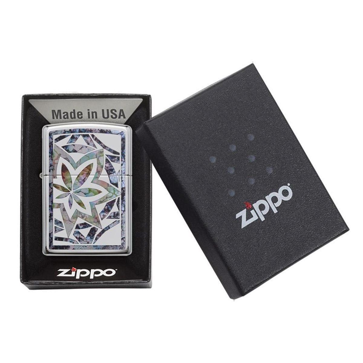 Encendedor Zippo hoja de colores