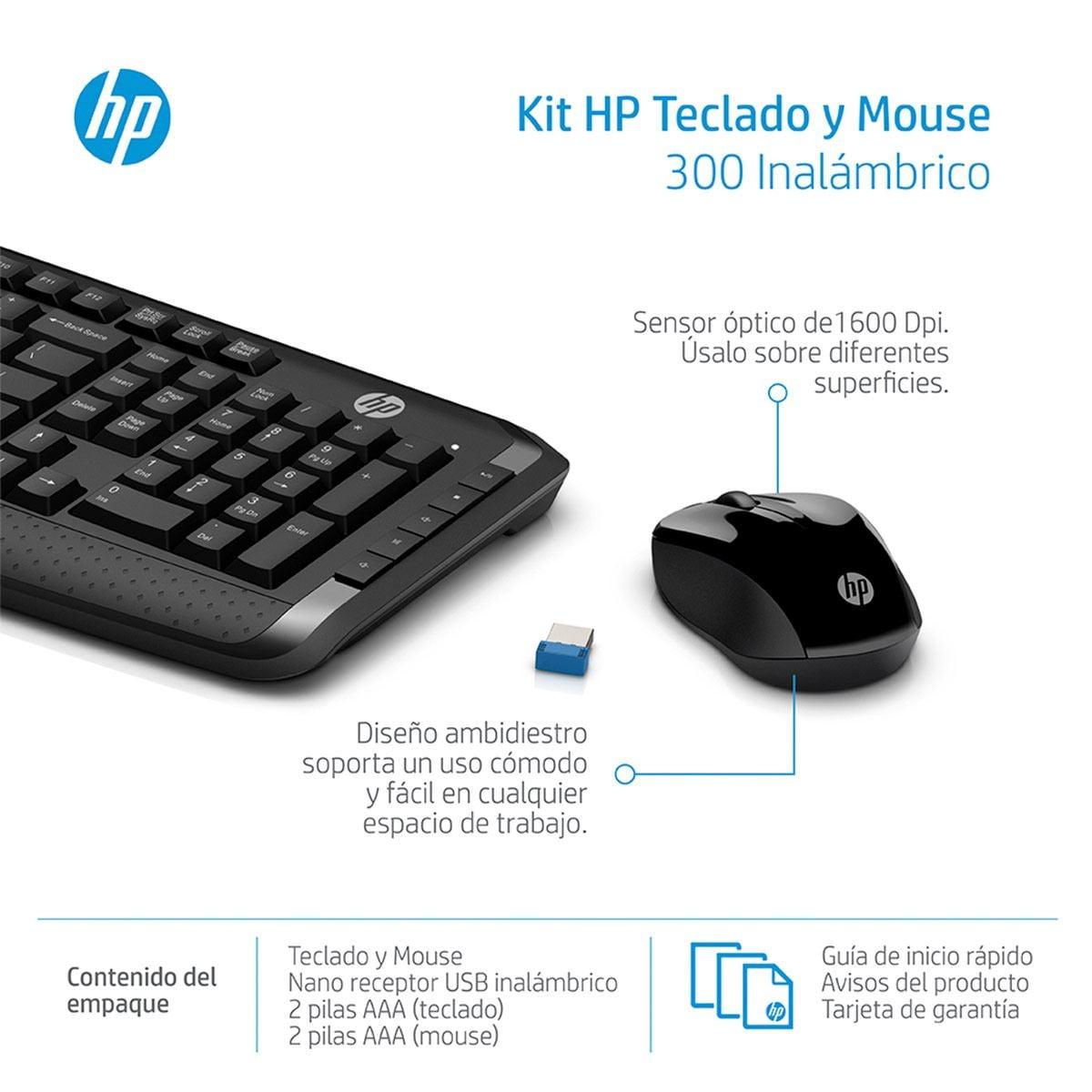Teclado Mouse HP Negro