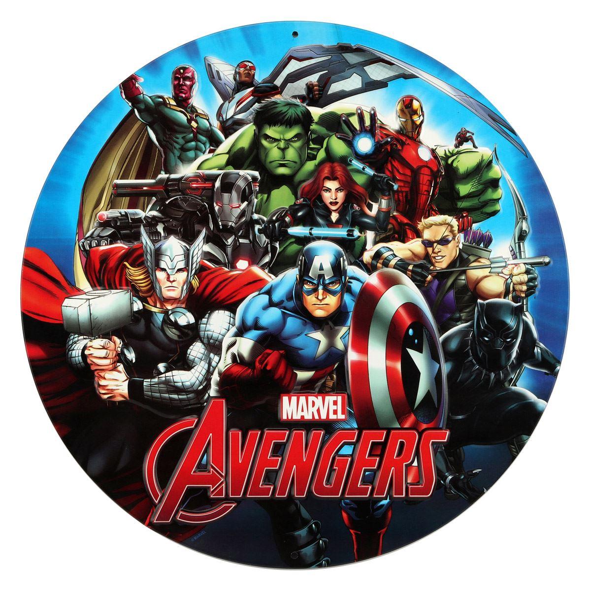 Placa de adorno Avengers