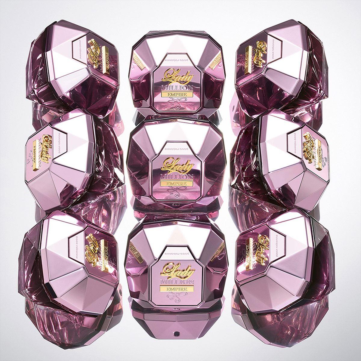 Set para dama, Paco Rabanne, Lady Million Empire, EDP 80 ML + body lotion 100 ML + travel spray 10 ML