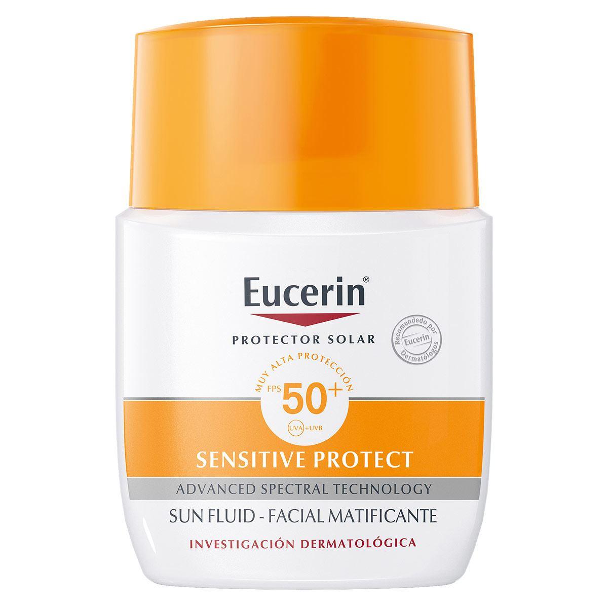 Eucerin Sun, Fluido Facial Matificante FPS 50+, 50ml