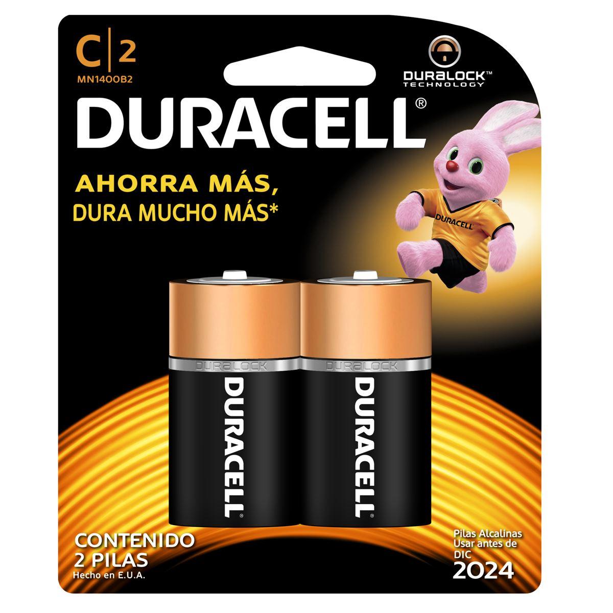 Pila Duracell Alcalina C con 2