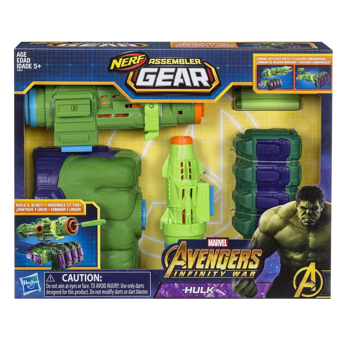 Lanzador Ensamblable Hulk Avengers Marvel