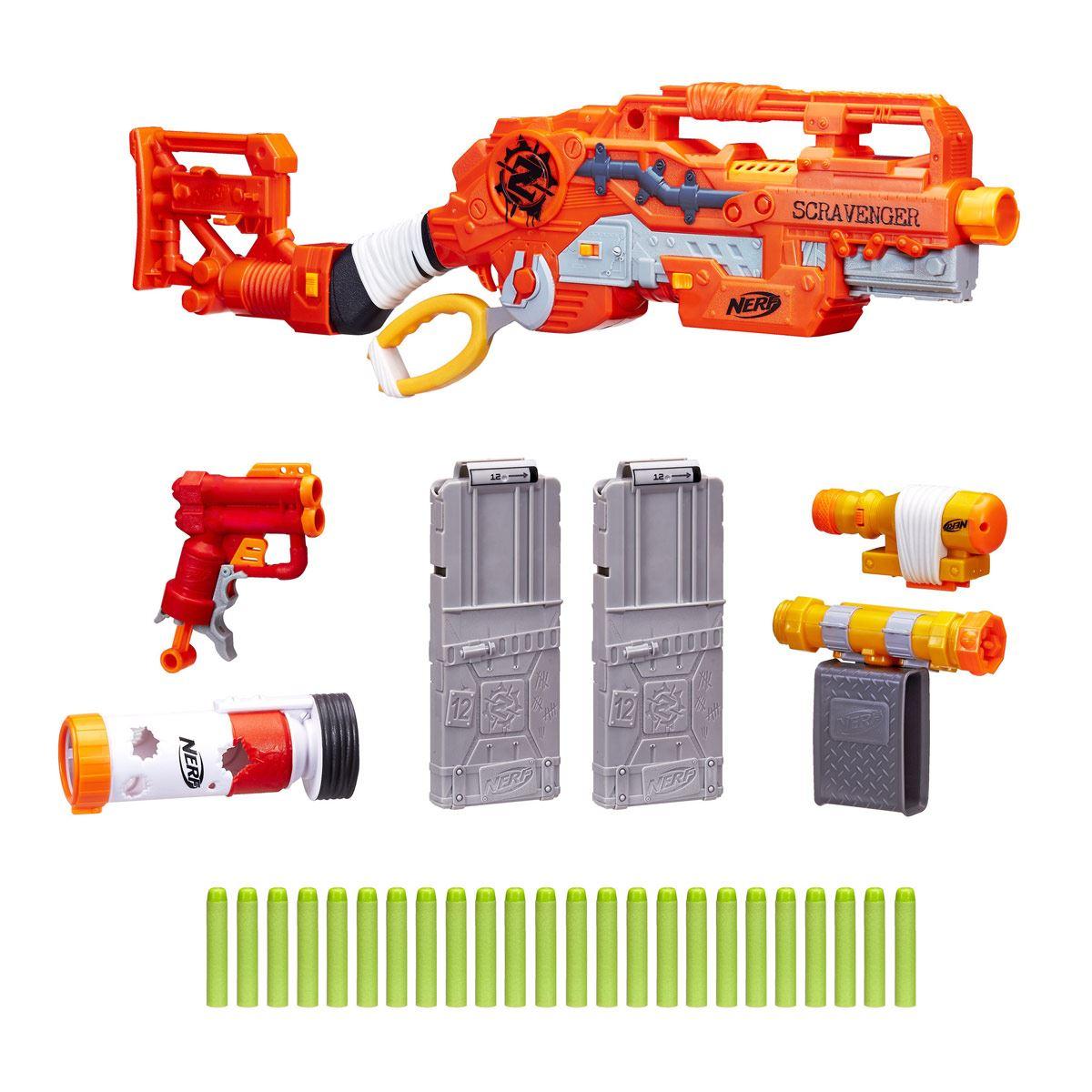 Lanzador Scravenger Nerf Zombie Strike