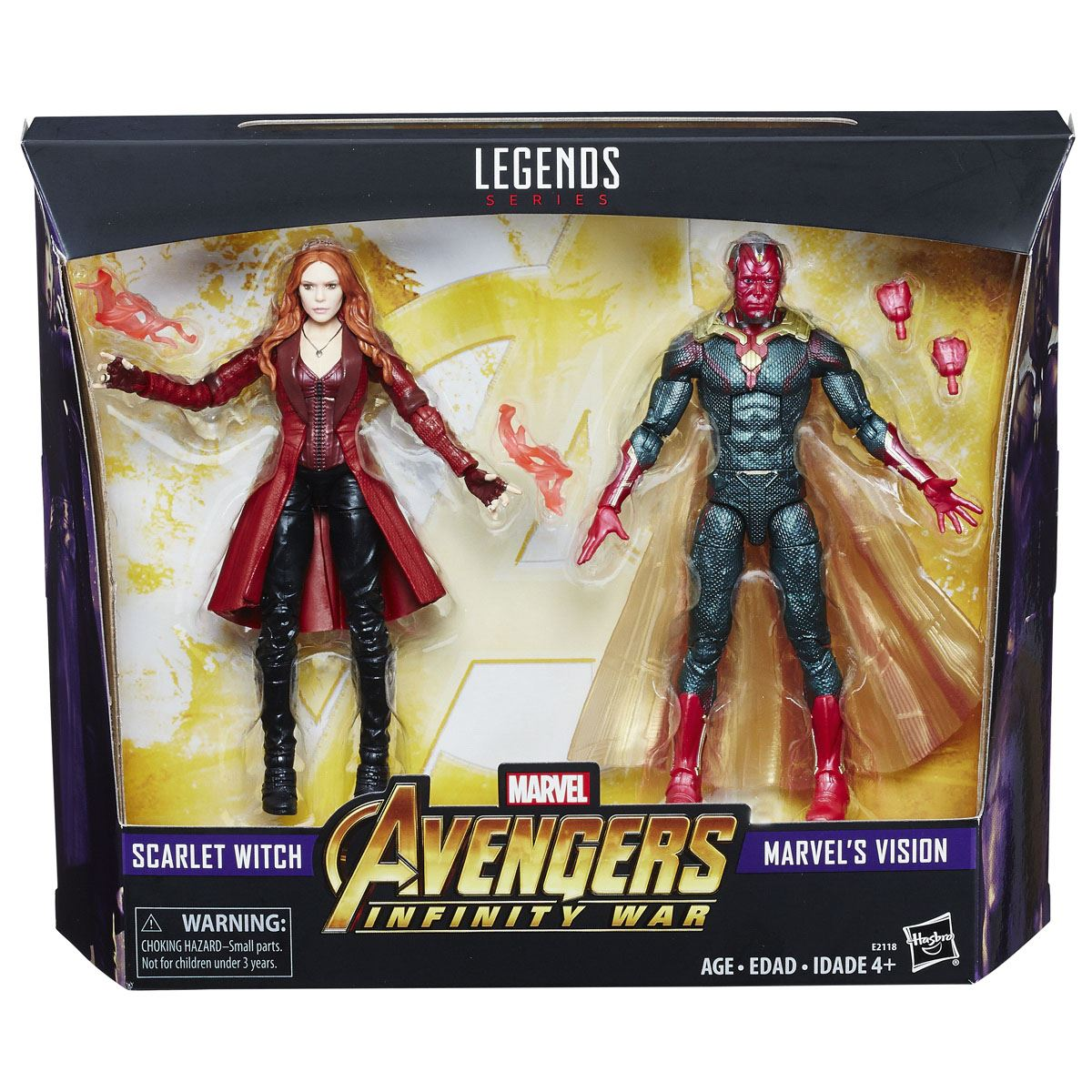 Dúo Marvels Vision y Scarlet Witch Avengers Marvel Legends