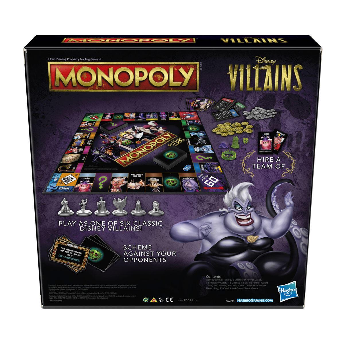 Juego de mesa Monopoly: Disney Villains Edition