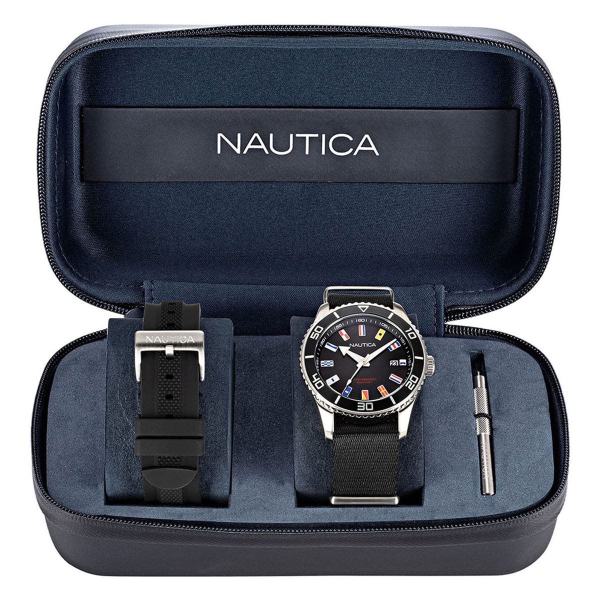 Reloj Nautica Dos Correas NAPPBF910 Negro Para Caballero