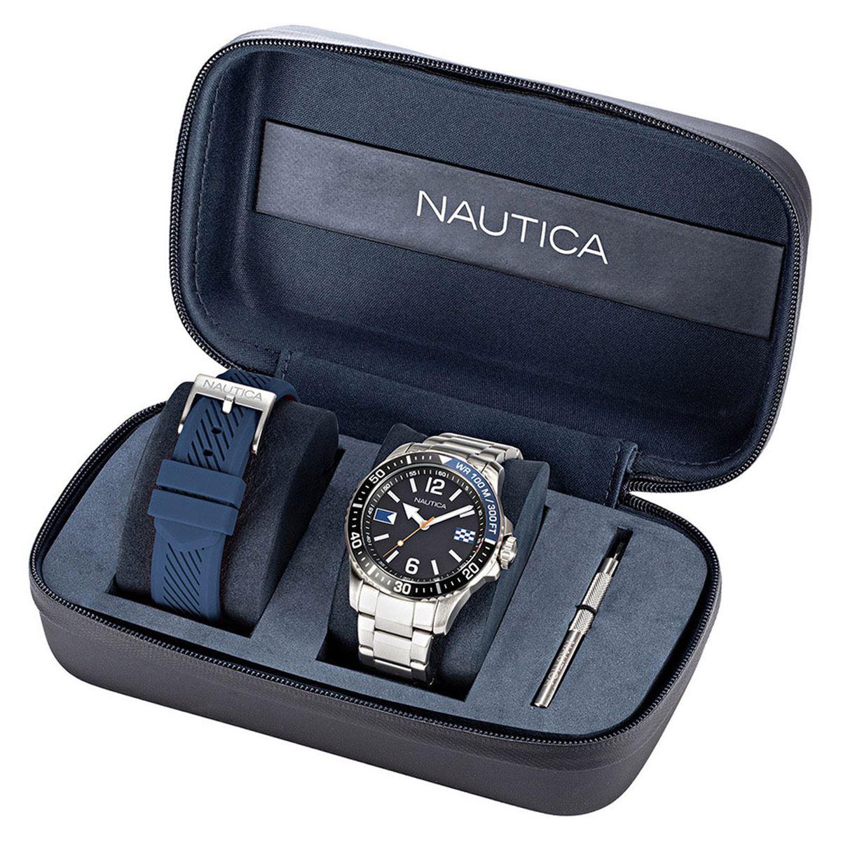 Reloj Nautica Dos Correas NAPFRB927 Negro Para Caballero