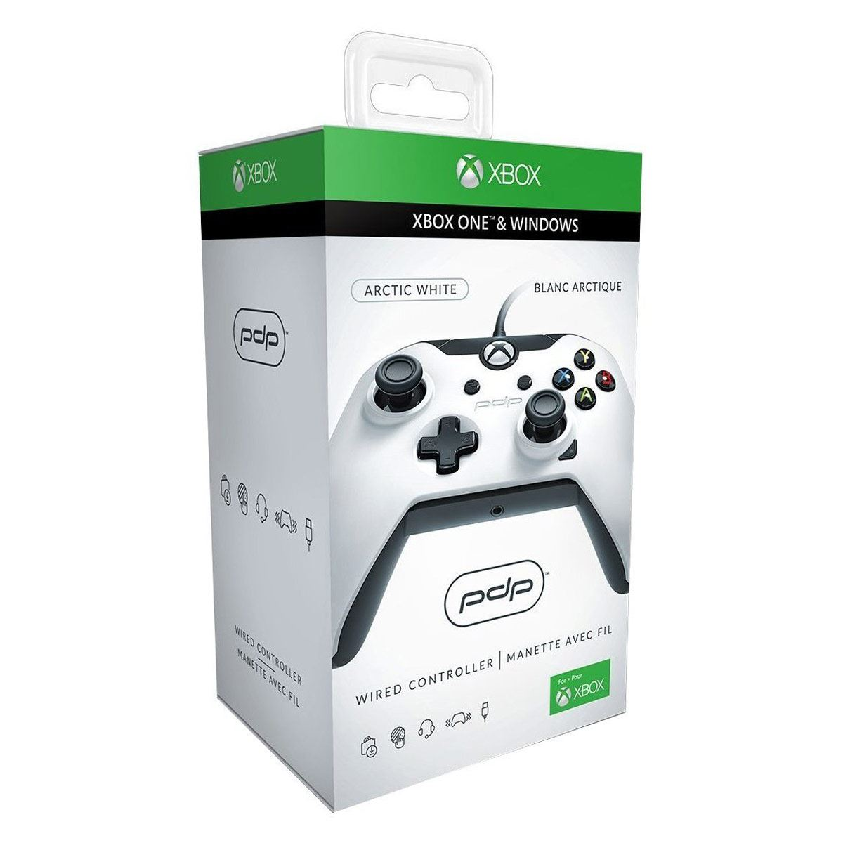 Control Xbox One Alámbrico Blanco PDP