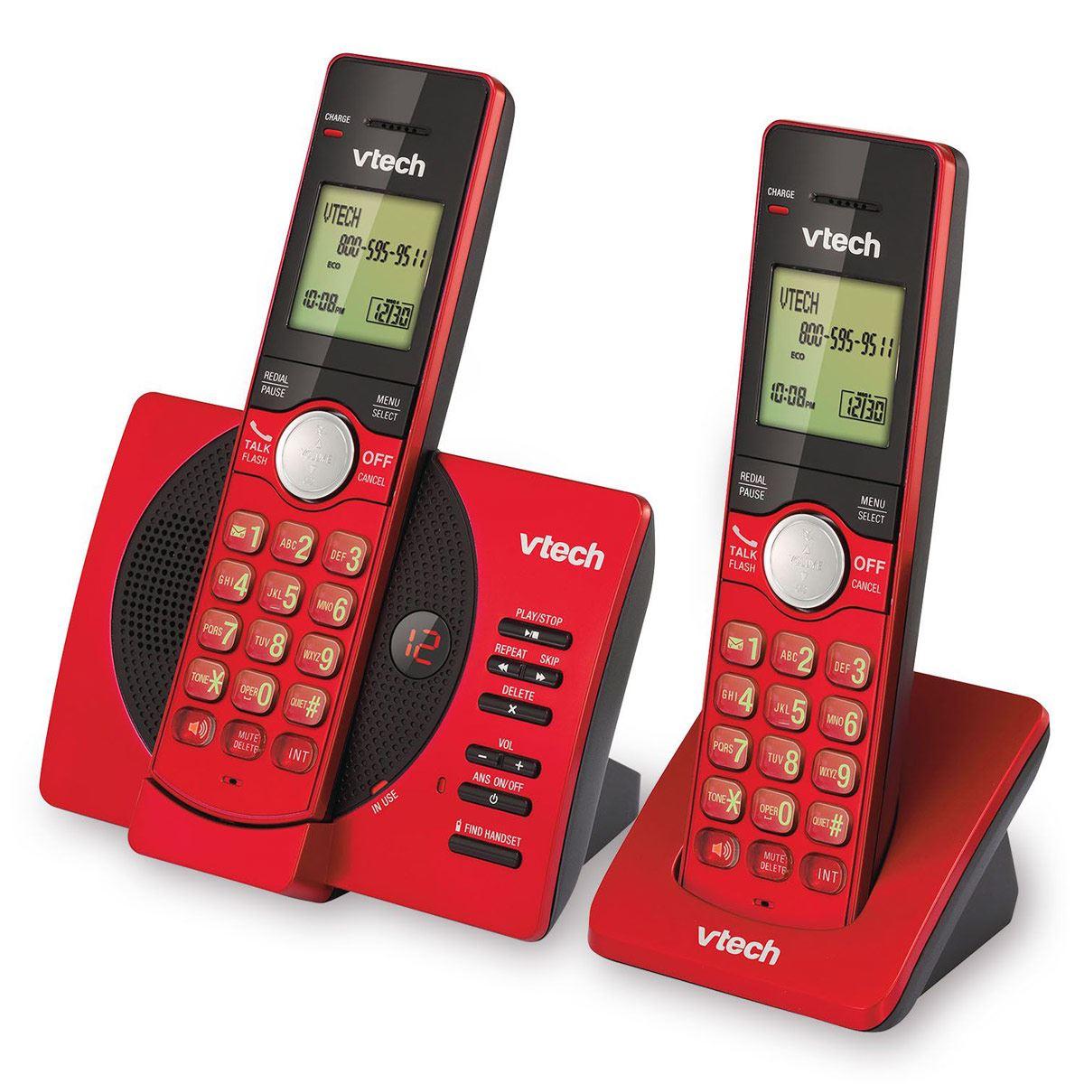 Teléfonos de Casa Dúo Rojo VTECH
