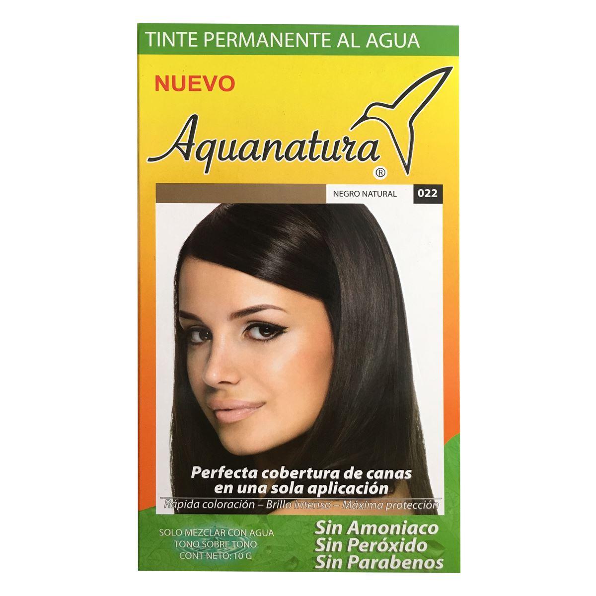 Tinte Permanente Al Agua Aquanatura Negro Natural