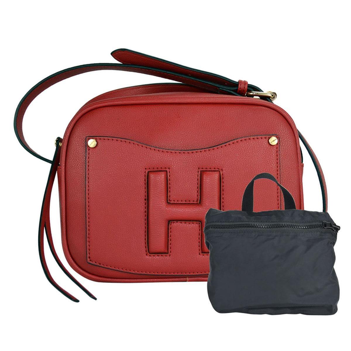 Bolsa Huser Cross Body Chica ModeloSh19302-3 Color Rojo