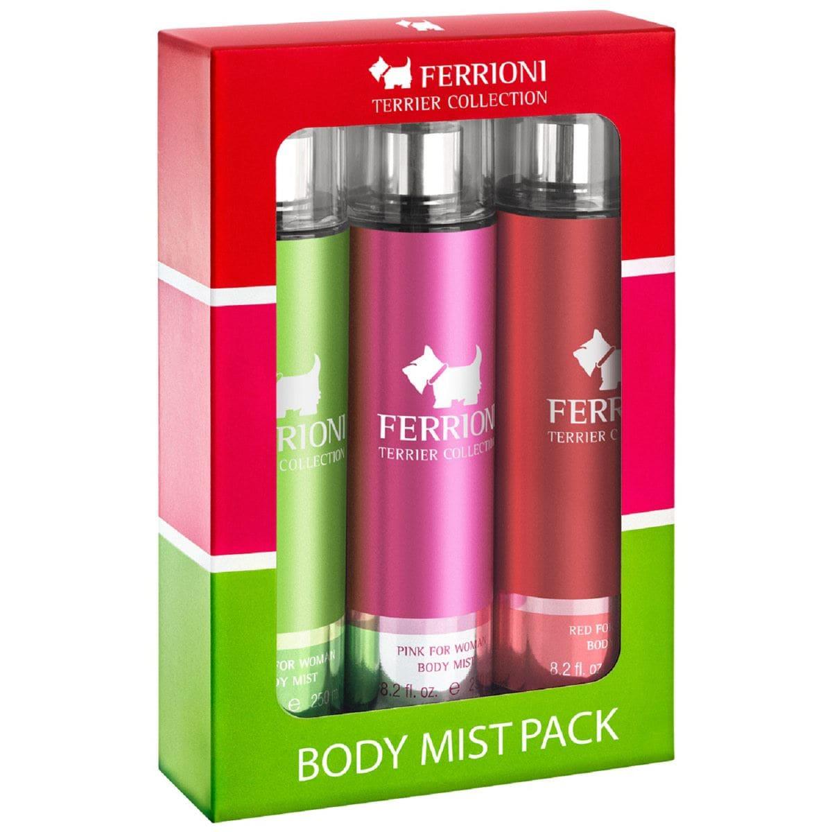 Ferrioni Body Mist Dama Pack 3 Piezas