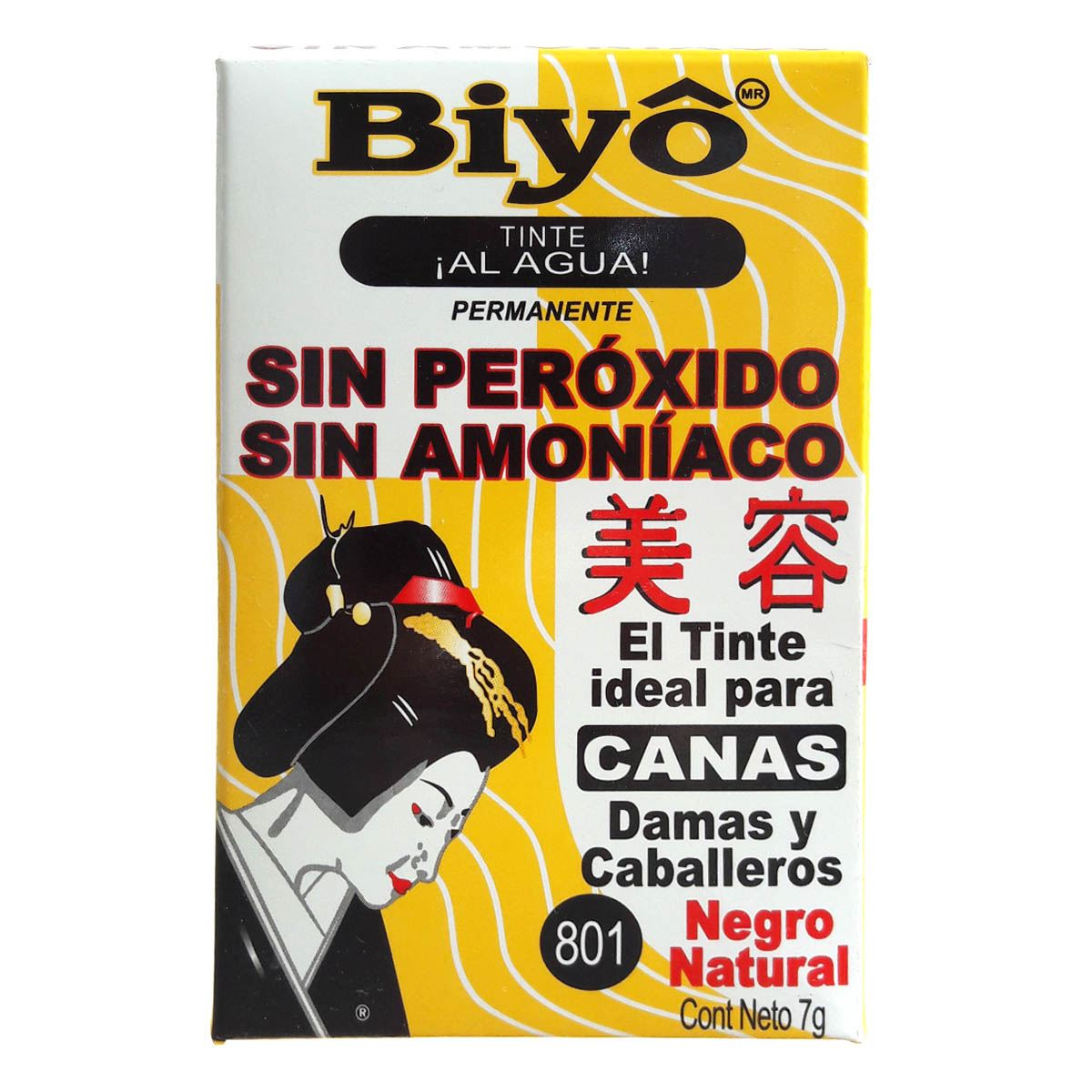Tinte Biyo Negro Natural 801 7 gr