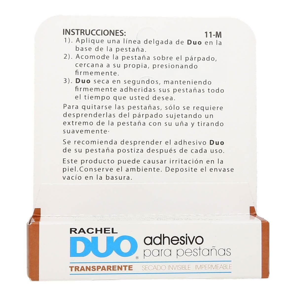 Adhesivo Transparente Rachel Duo 11-M
