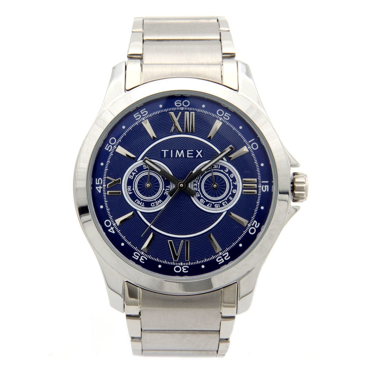 Reloj para Caballero Timex Plateado y Azul