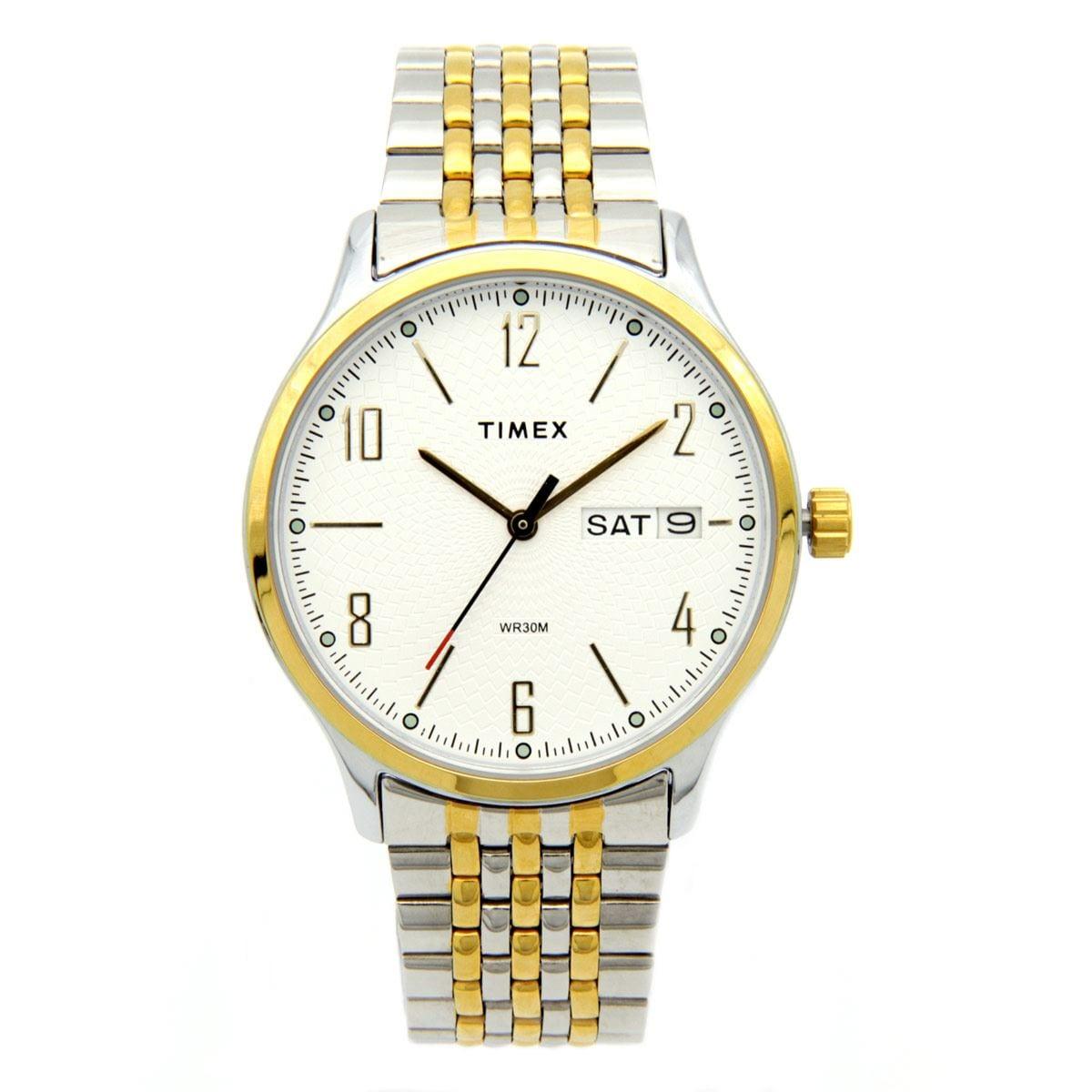 Reloj Timex Plateado y Dorado Para Caballero