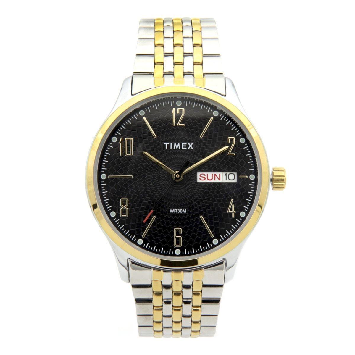 Reloj para Caballero Timex Negro y Plateado