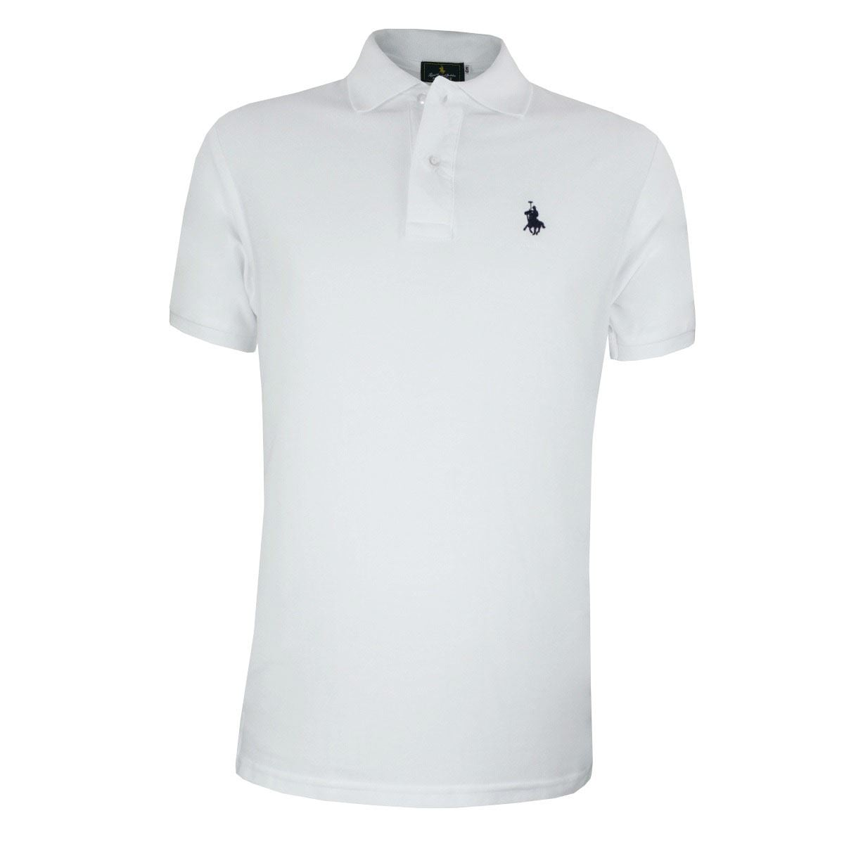 Playera Polo Club Mc Pique Algodón Gd Blanco