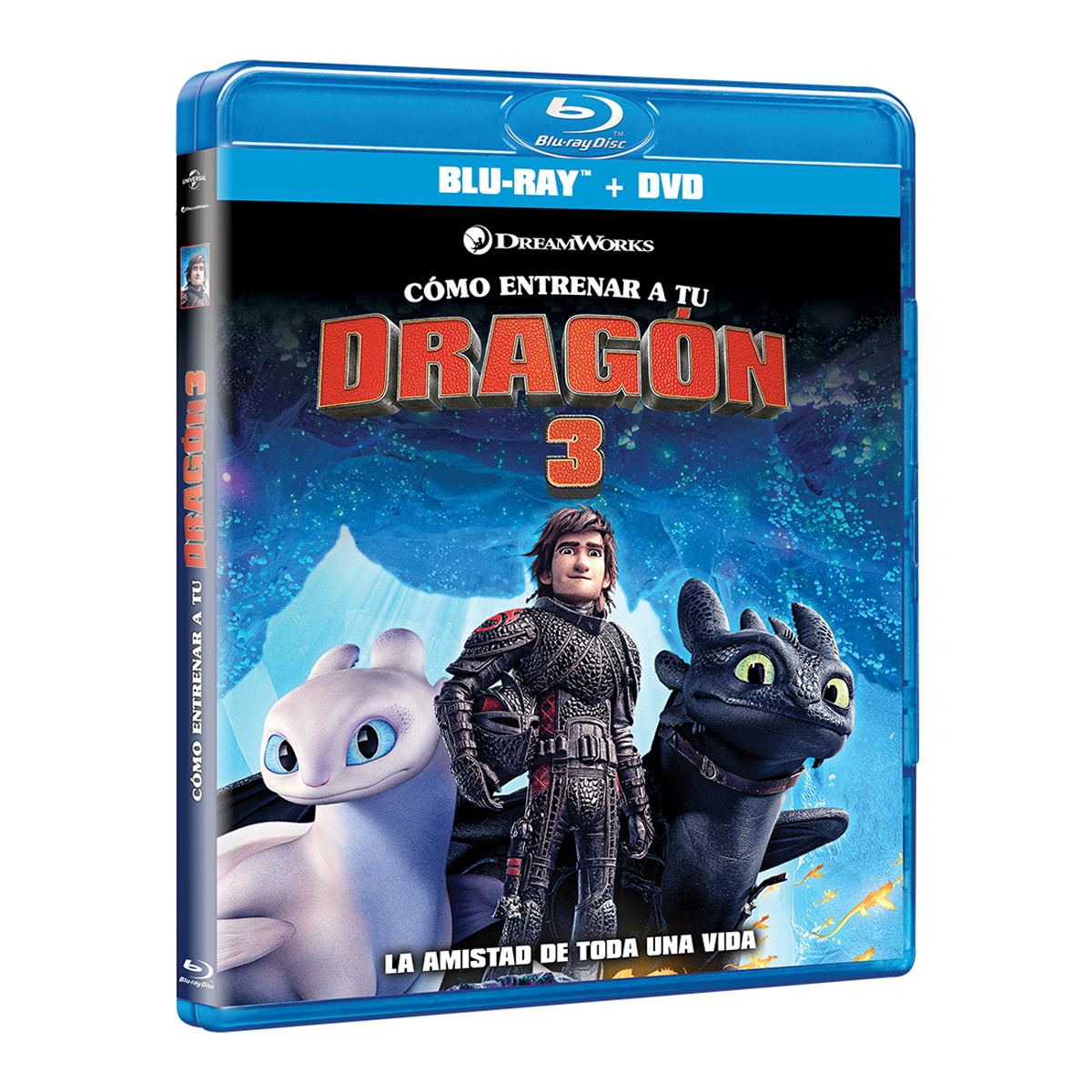 BR+ DVD Como Entrenar a tu Dragón 3