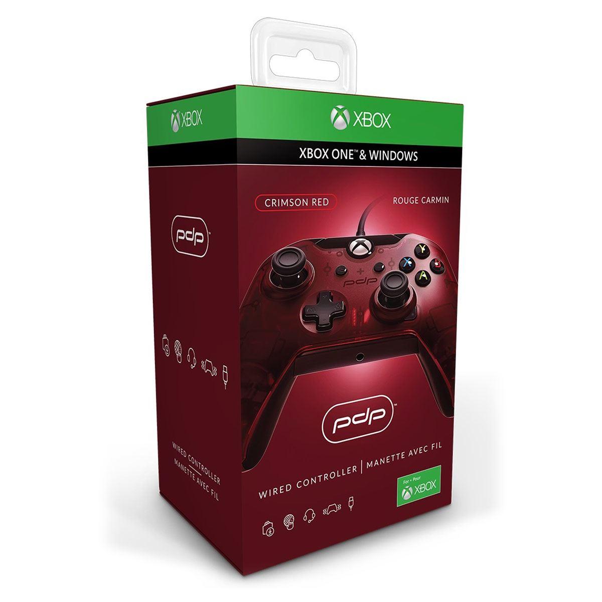 Control Xbox One Alámbrico Rojo PDP