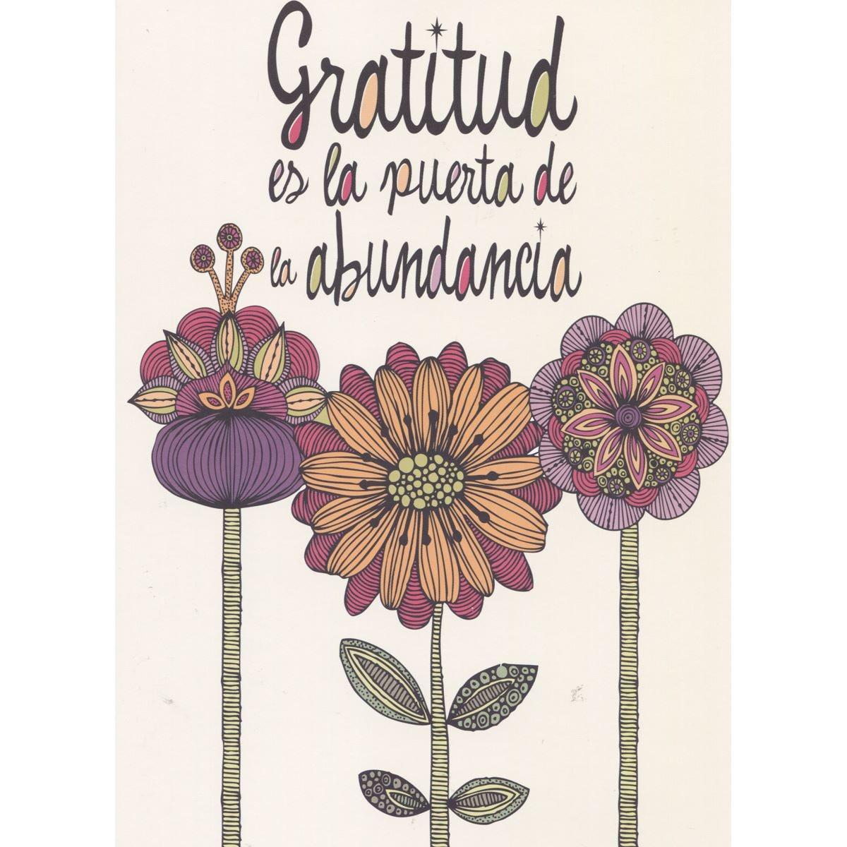 Tarjeta valentina gratitude
