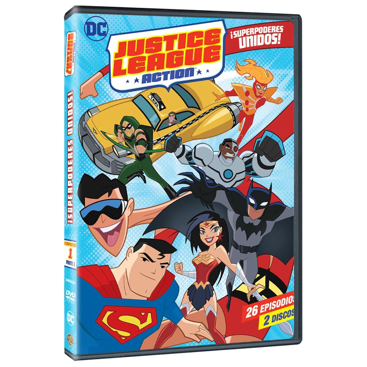 DVD DC Jusitce League Action: Temporada 1 Parte 1