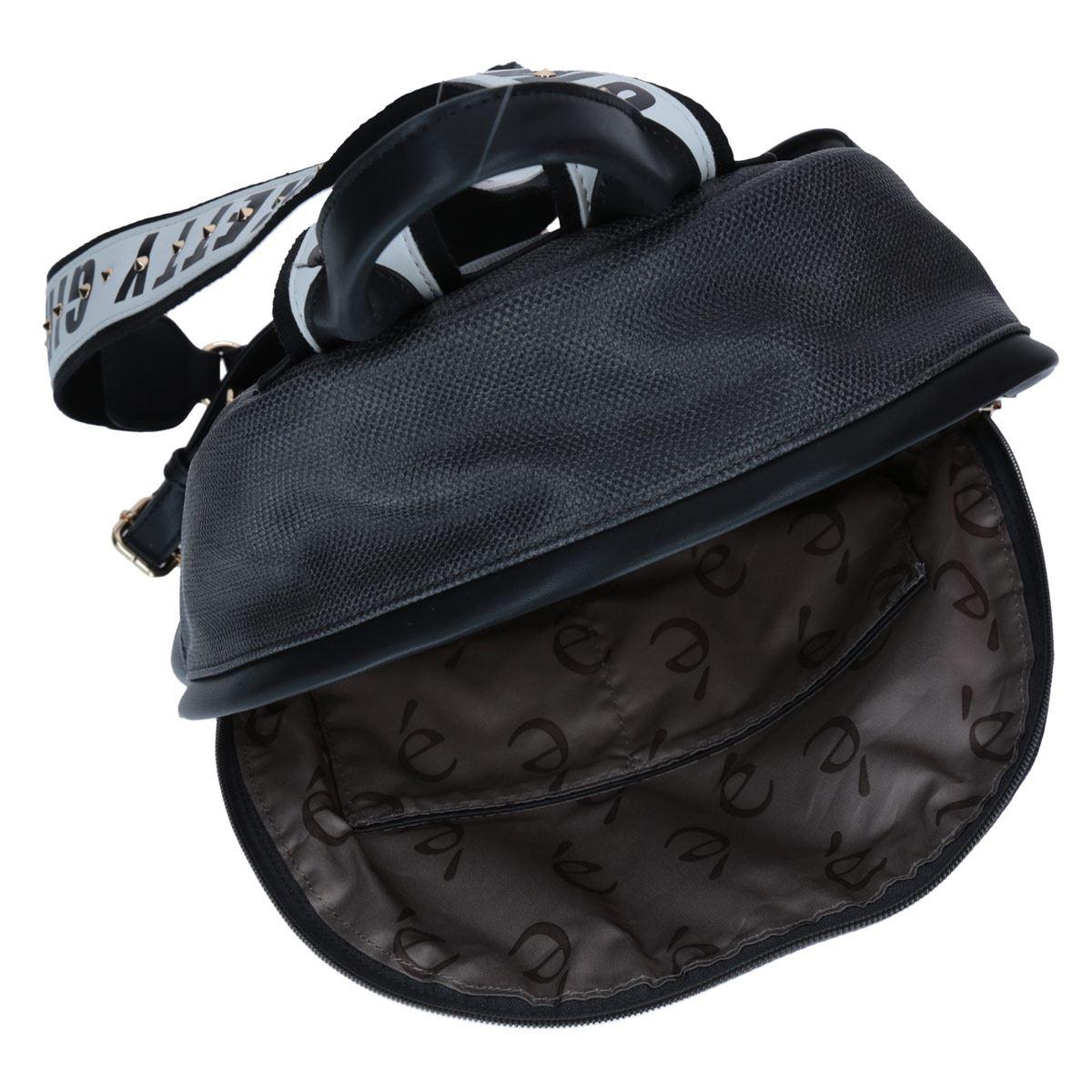 Bolso Back Pack Mediana Color Negro Gorétt