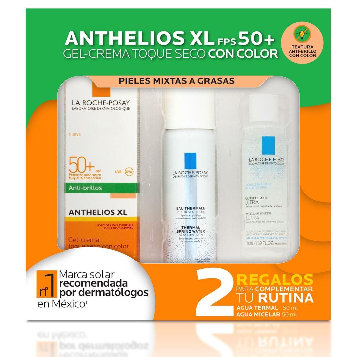 Pack Protector Solar Rostro Anthelios XL Toque Seco con color FPS 50+