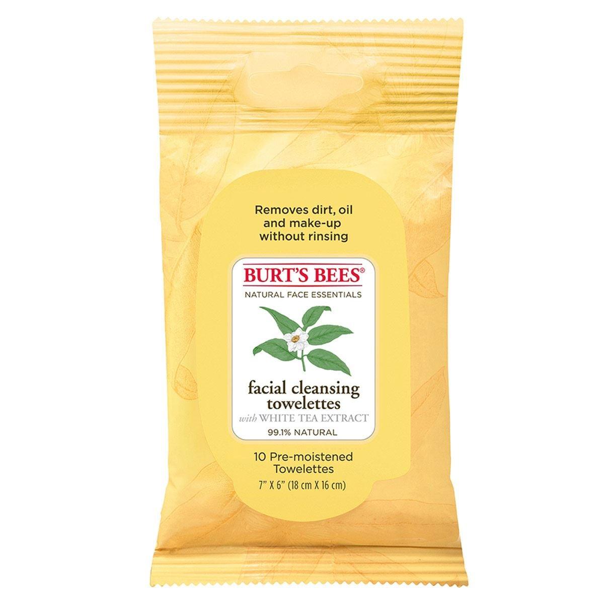Toallitas de Té Blanco 10 pz Burt's Bees