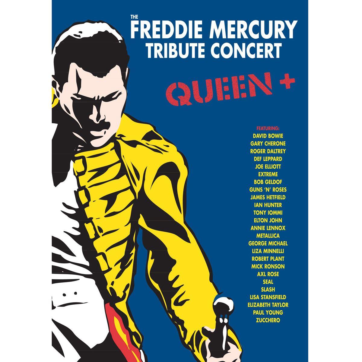 DVD Various Artists- The Freddie Mercury Tribute Concert Queen+