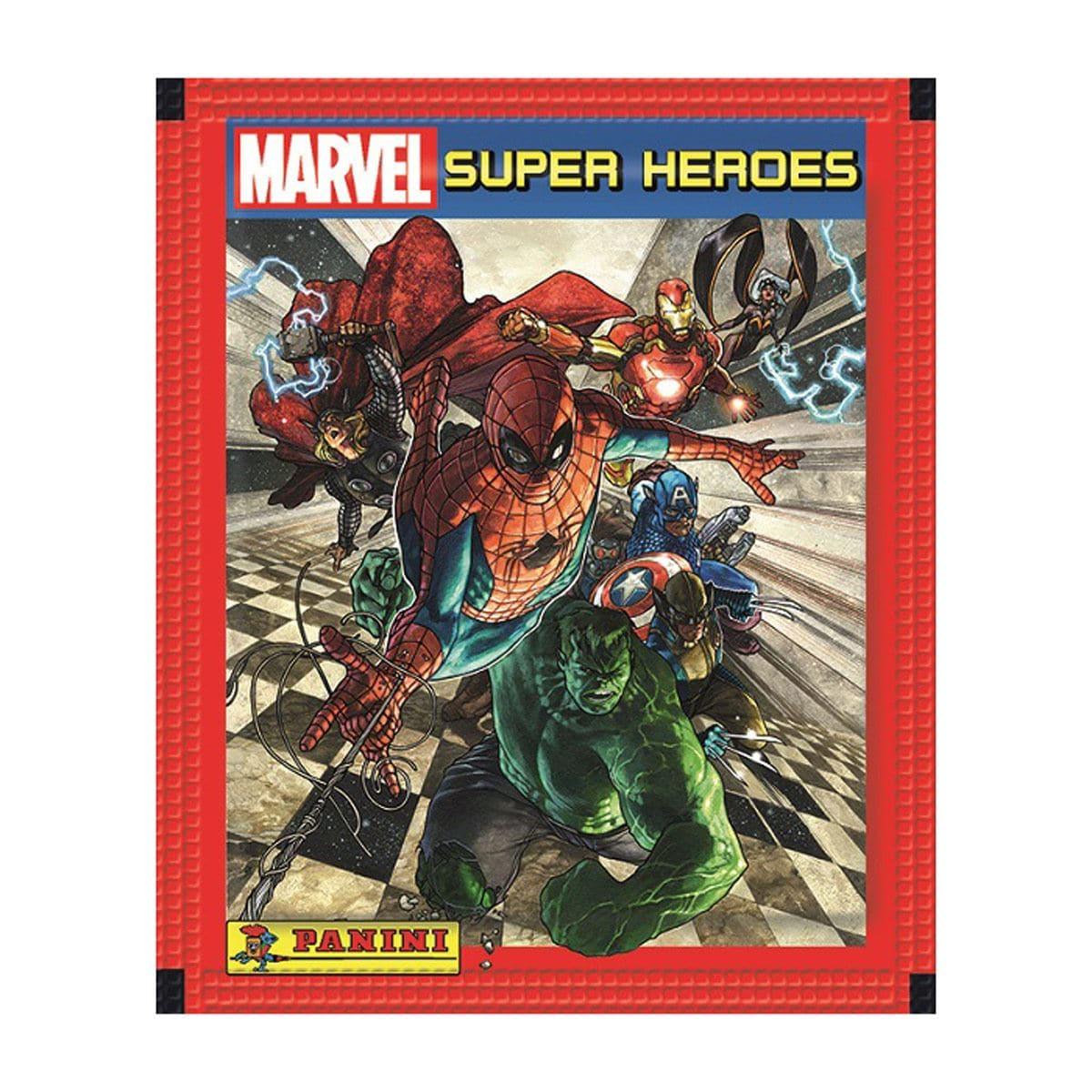 Sobre Marvel 5 estampas Súper Héroes Panini