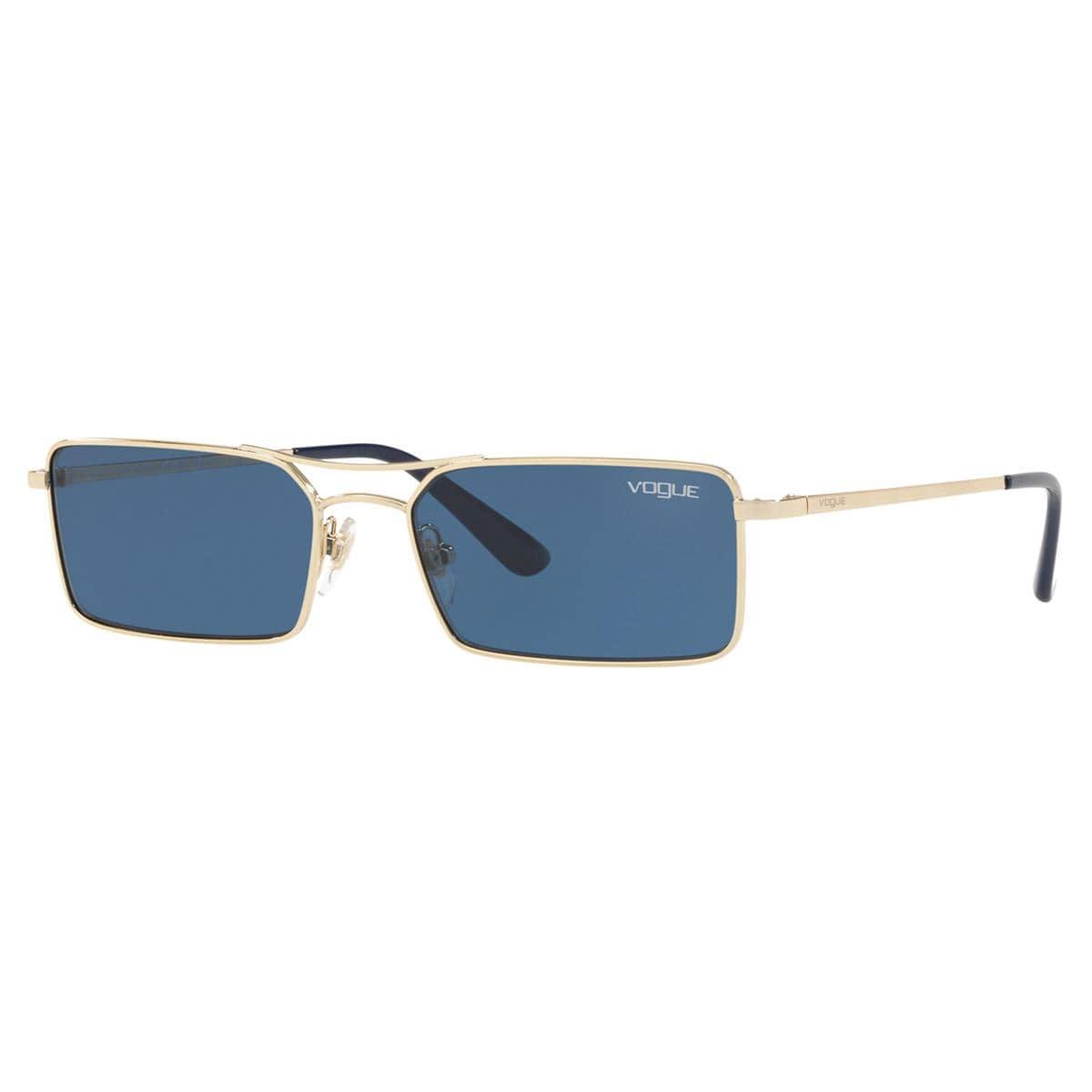 Vogue azul armazón en metal oro pálido