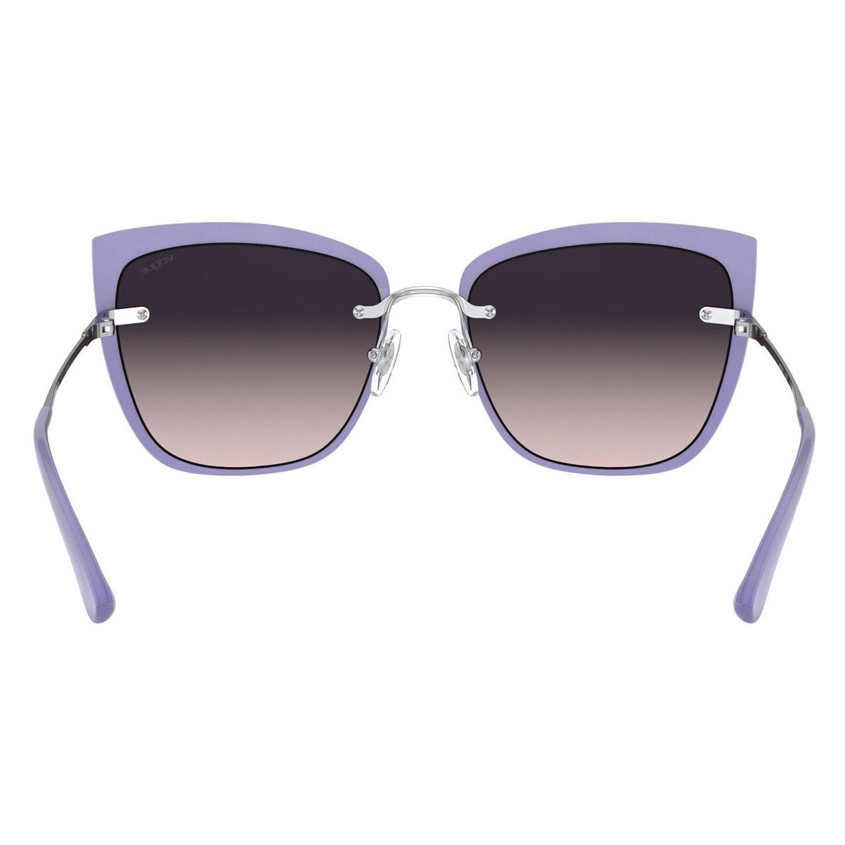 Lente solar Vogue Armazón en Metal Plata-Violeta