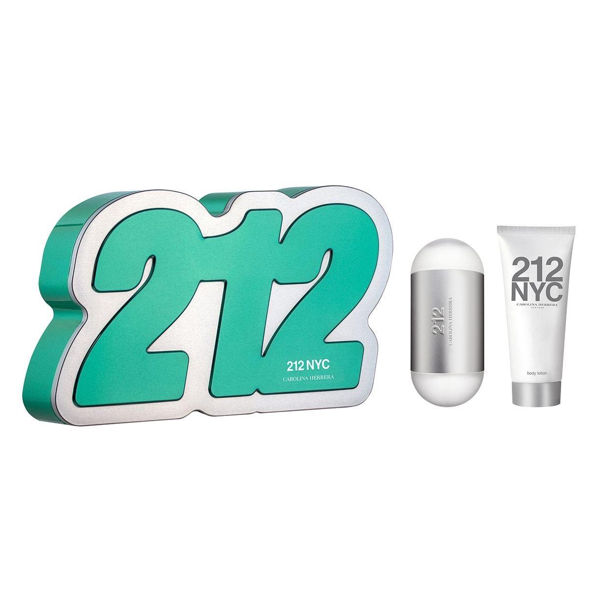 Set para dama, Carolina Herrera, 212, EDT 100 ML + body lotion 100 ML