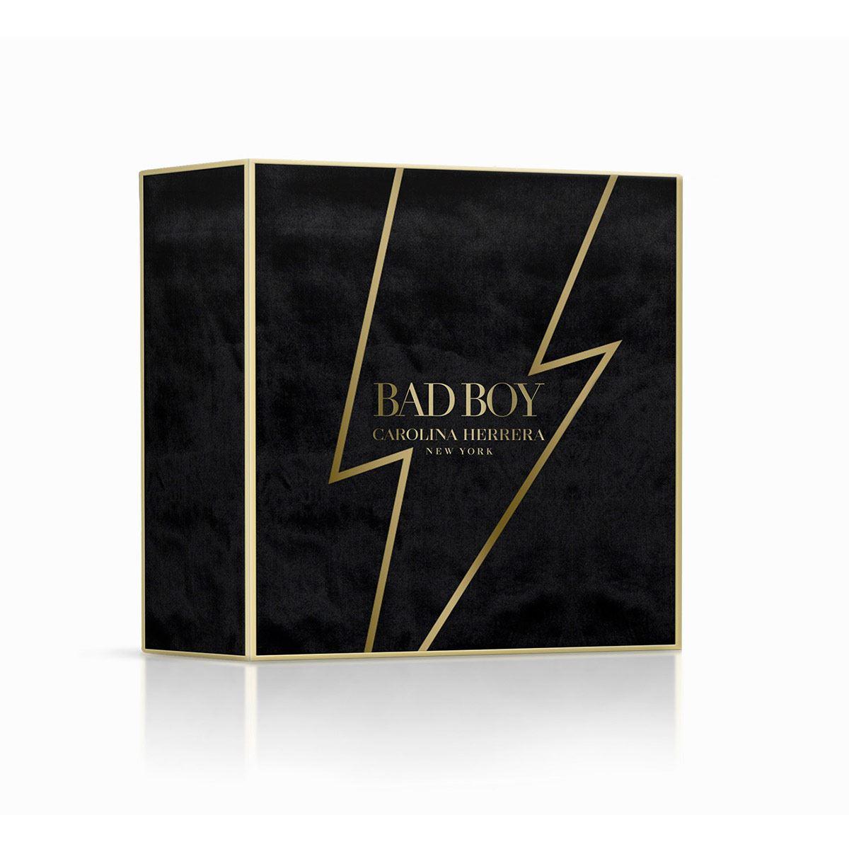 Set para caballero, Carolina Herrera, BAD BOY, EDT 100ML + Shower Gel 100 ML