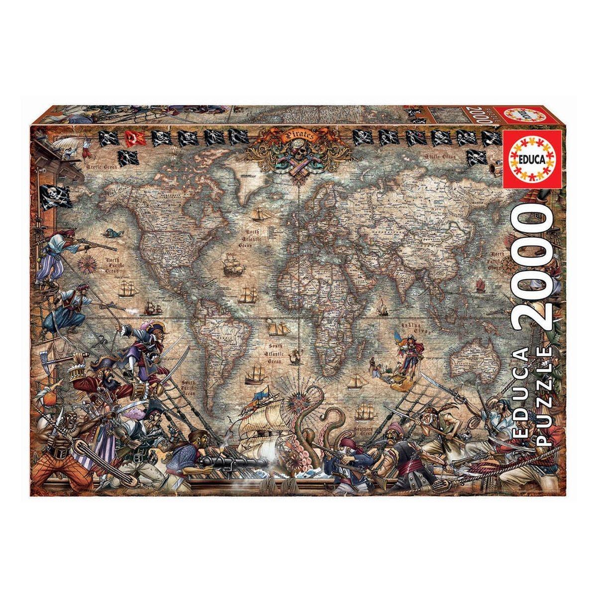 Rompecabezas 2000 Piezas Mapa De Piratas Fsc