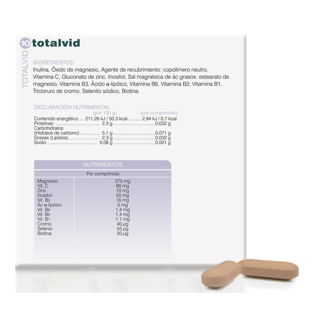 Suplemento Totalvid 10, 28 comprimidos Soria Natural