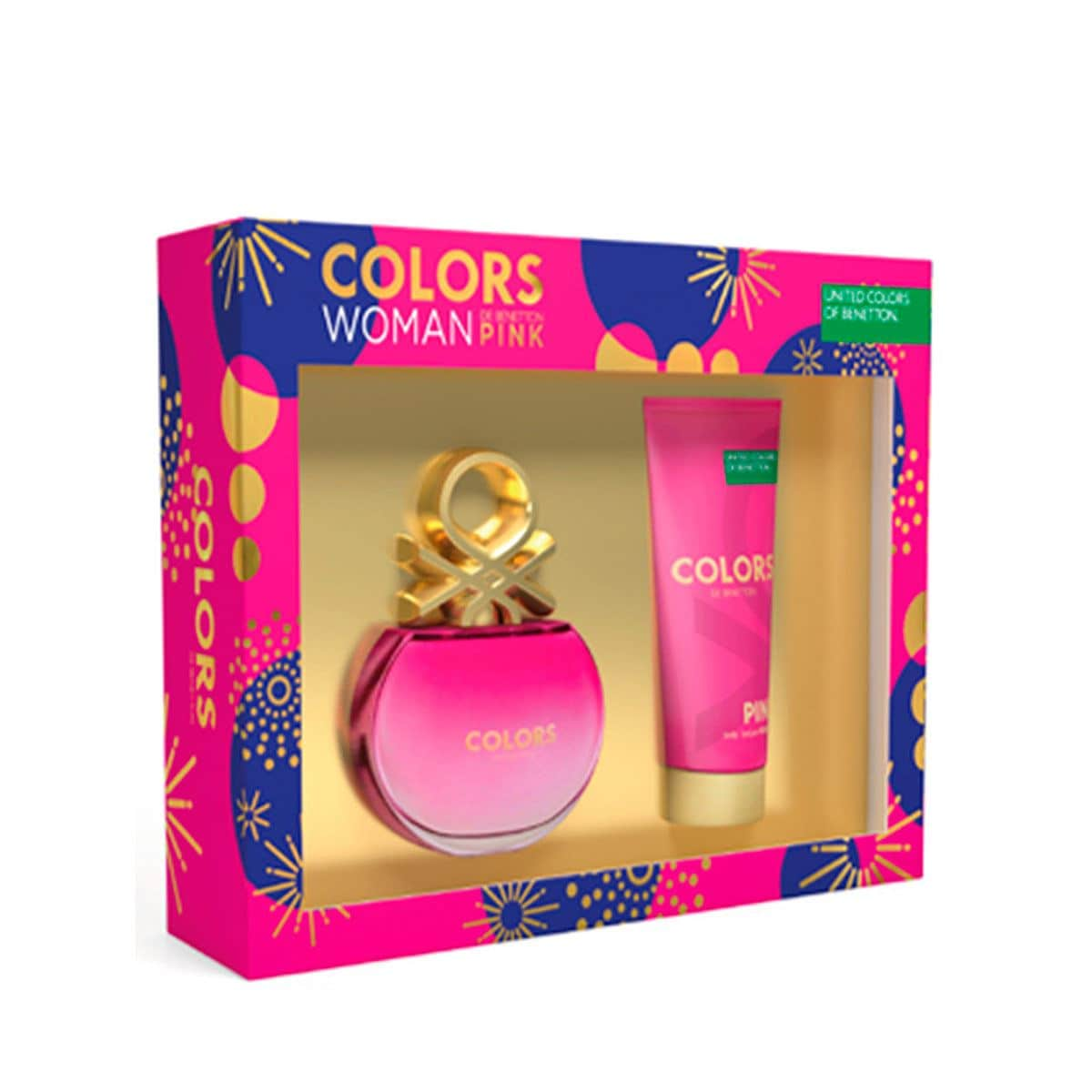 Set para dama, Benetton, Colors Pink, EDT 80 ml+ body lotion 75 ml