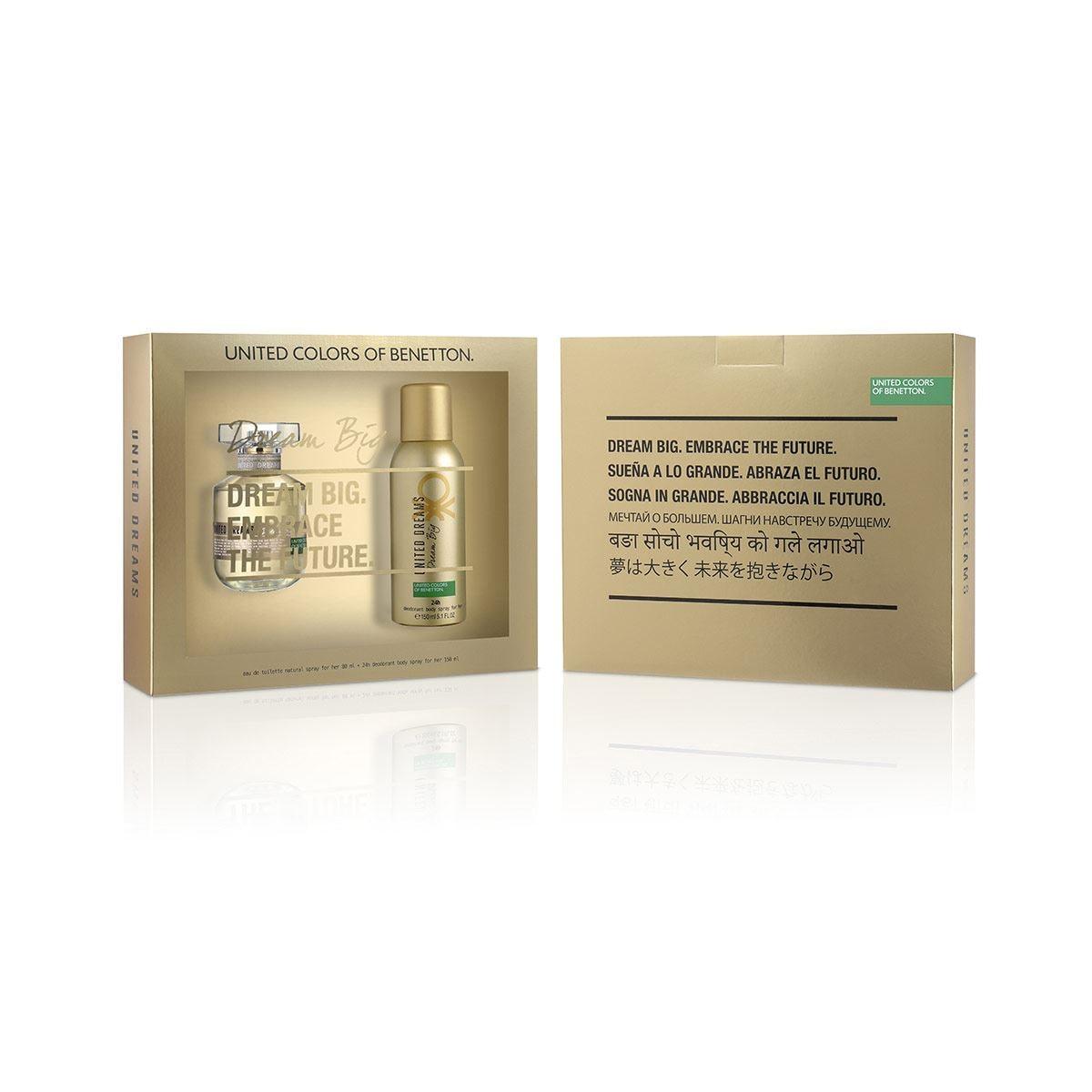 Set para Dama, Benetton United Dreams Dream Big EDT 80ML + Desodorante 150ML