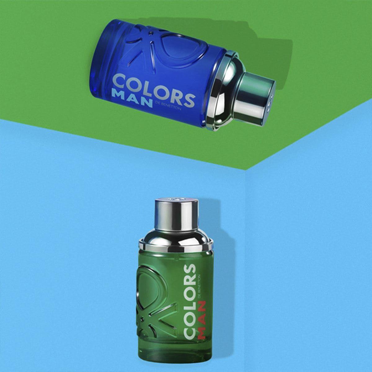 Set para Caballero, Benetton Colors Blue EDT 100ML + Después del afeitado 75ML