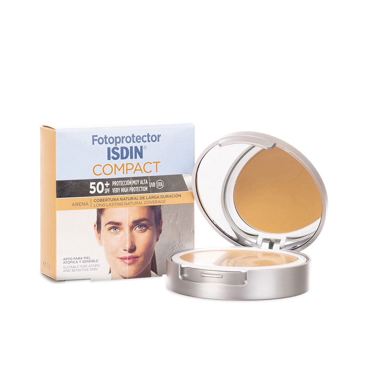 Fotoprotector  50+ Maquillaje Compacto Color Arena Isdin