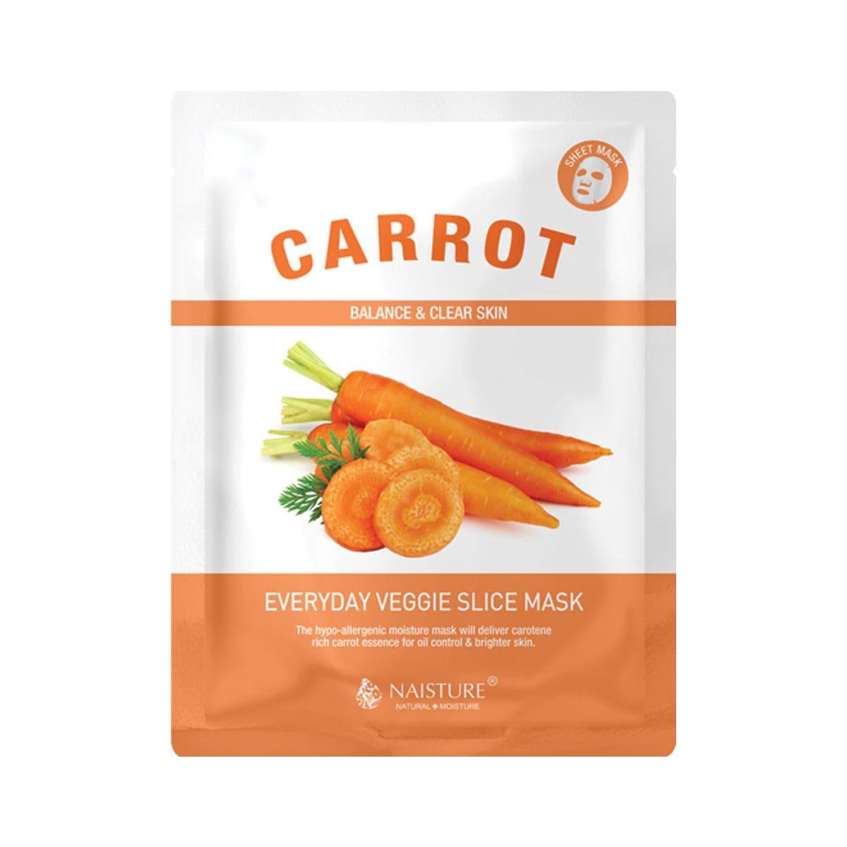 Mascarilla Facial Vegetariana de Zanahoria Naisture