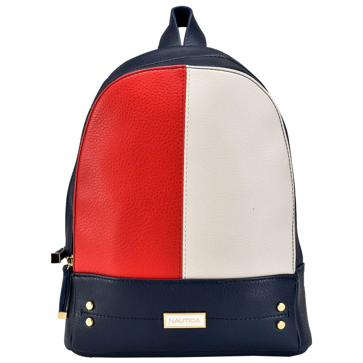 Bolso Back Pack Nautica Rojo/ Blanco