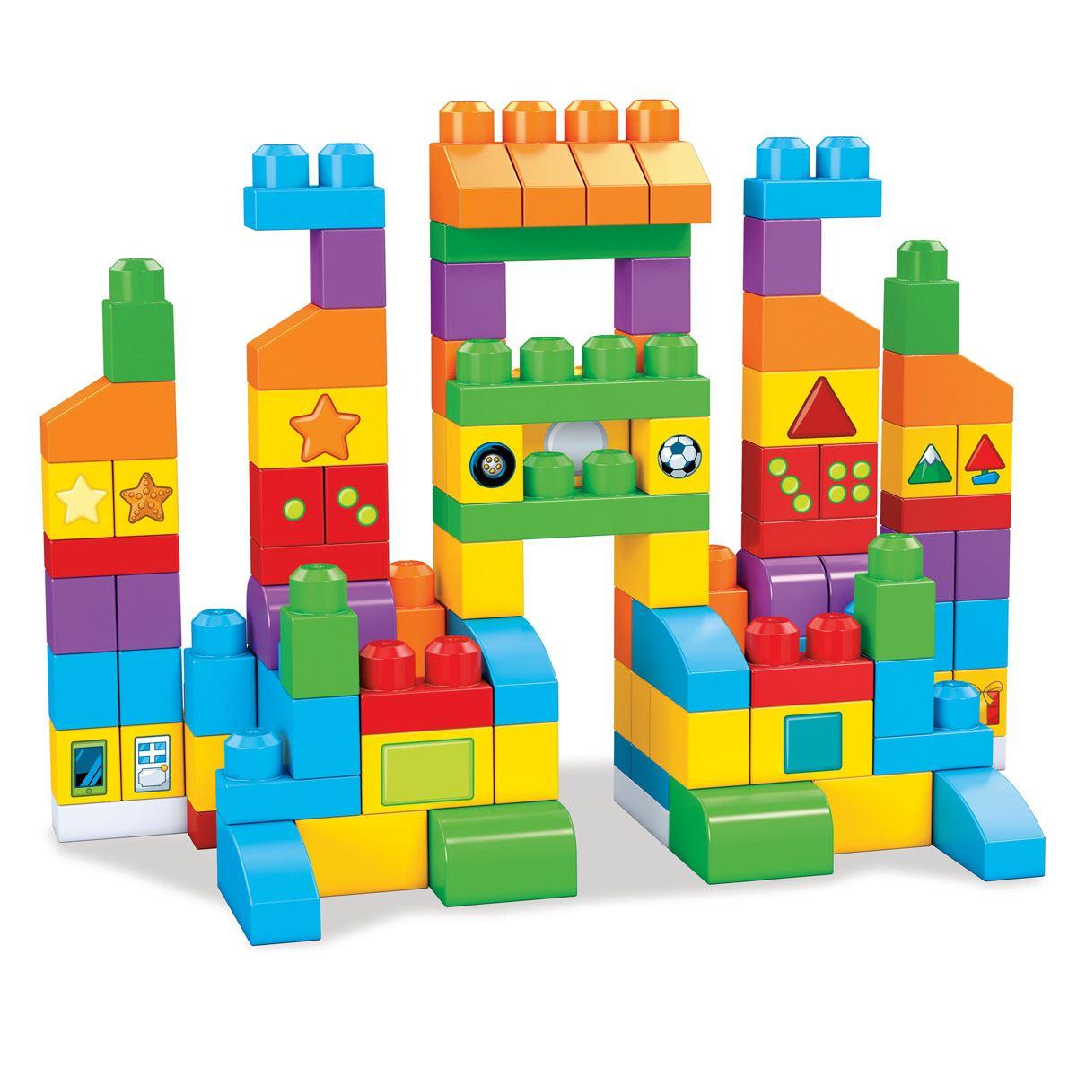 Mega Bloks Bolsa para Construir de Aprendizaje (150 Piezas)