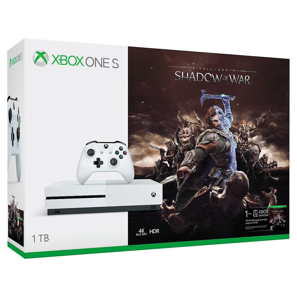 Consola Xbox One S 1TB Shadow of War