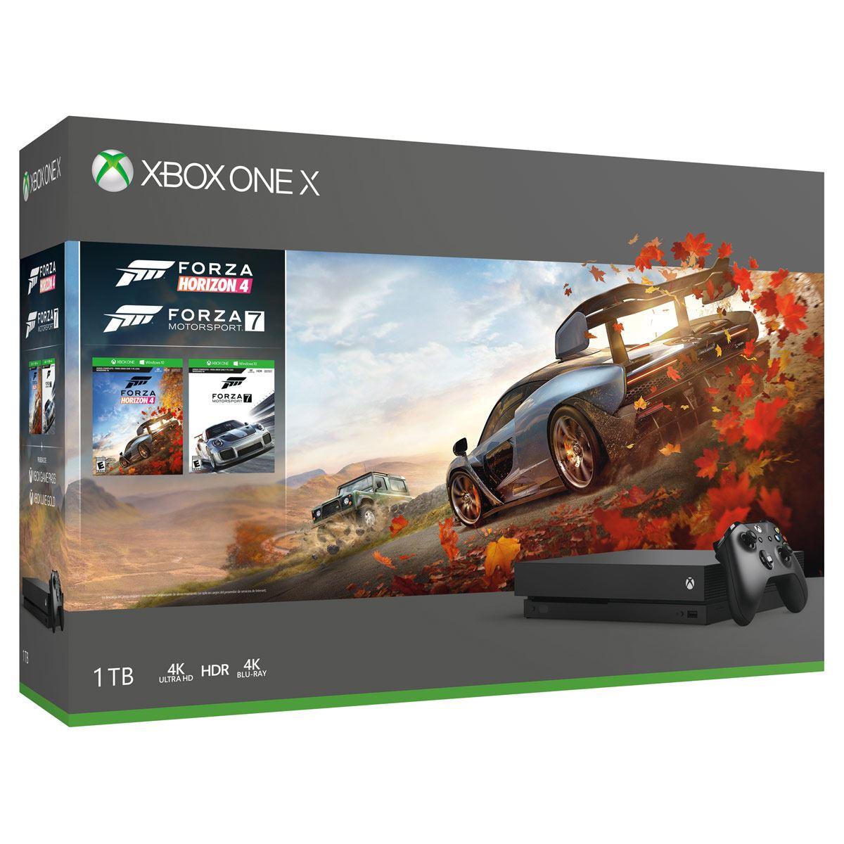 Xbox One X de 1TB+ Forza Horizon 4+ Forza Motorsport 7